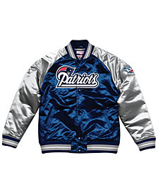 Mitchell & Ness Men's New England Patriots Tough Season Satin Jacket