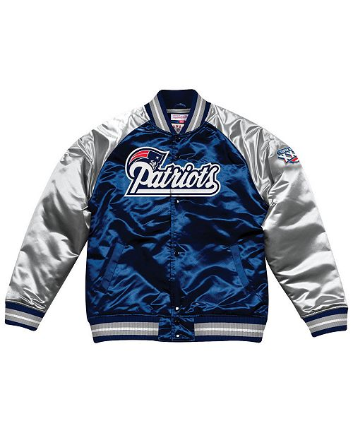 77f124fd11f ... Mitchell   Ness Men s New England Patriots Tough Season Satin Jacket ...