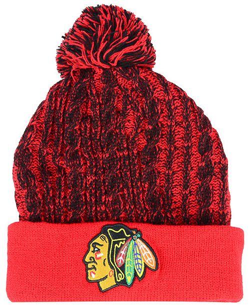 Authentic NHL Headwear Women's Chicago Blackhawks Iconic Ace Knit Hat