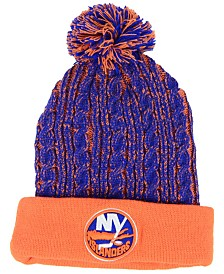 Authentic NHL Headwear Women's New York Islanders Iconic Ace Knit Hat