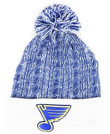 Authentic NHL Headwear Women's St. Louis Blues Iconic Ace Knit Hat