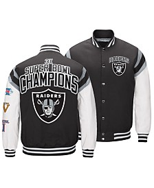 Authentic NFL Apparel Men's Oakland Raiders Home Team Varsity Jacket