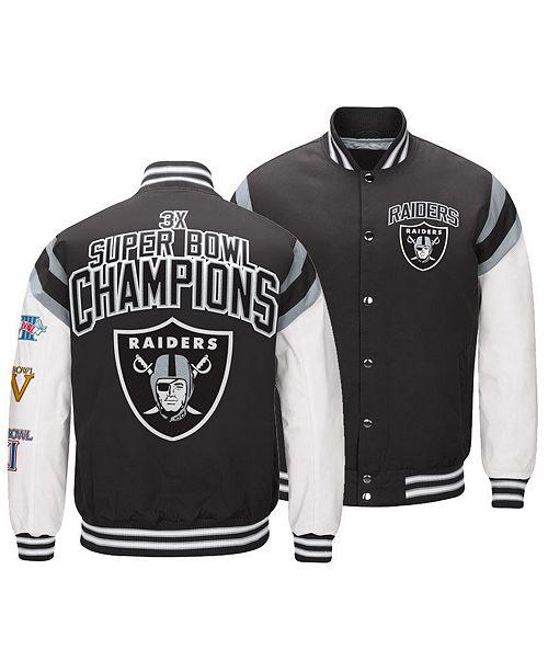 Cheap Authentic NFL Apparel Men's Oakland Raiders Home Team Varsity Jacket  for sale