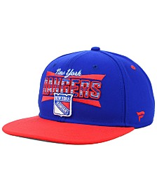 Authentic NHL Headwear New York Rangers Combo Emblem Snapback Cap