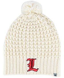 Top of the World Women's Louisville Cardinals Slouch Pom Knit Hat