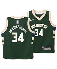 Nike Giannis Antetokounmpo Milwaukee Bucks Icon Replica Jersey, Toddler Boys (2T-4T)