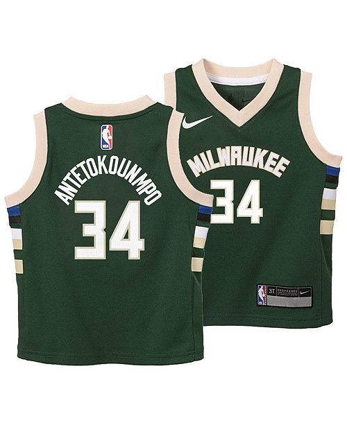 sneakers for cheap d0bfa da13a Giannis Antetokounmpo Milwaukee Bucks Icon Replica Jersey, Toddler Boys  (2T-4T)