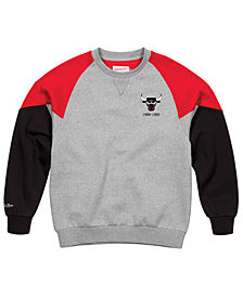 Mitchell & Ness Men's Chicago Bulls Trading Block Crew Sweatshirt