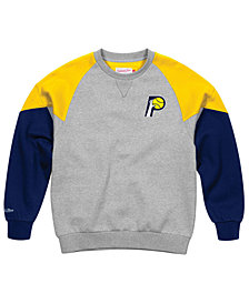 Mitchell & Ness Men's Indiana Pacers Trading Block Crew Sweatshirt