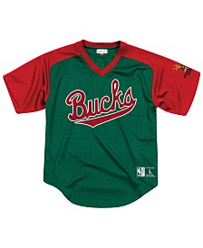 Mitchell & Ness Men's Milwaukee Bucks Final Seconds Mesh V-Neck Jersey