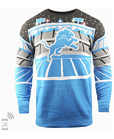 Forever Collectibles Men's Detroit Lions Bluetooth Sweater