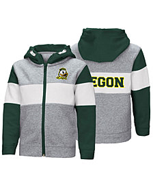 Colosseum Oregon Ducks Colorblocked Full-Zip Sweatshirt, Toddler Boys (2T-4T)