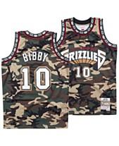 2db8f94f84d Mitchell & Ness Men's Mike Bibby Vancouver Grizzlies Woodland Camo Swingman  Jersey