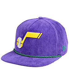 New Era Utah Jazz Hardwood Classic Nights Cords 9FIFTY Snapback Cap