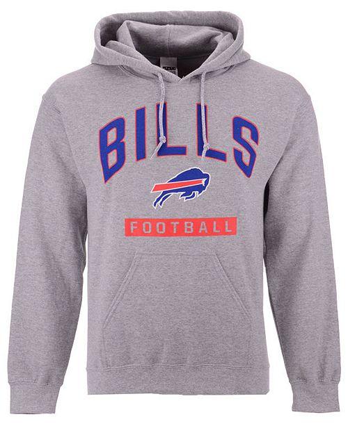 Authentic NFL Apparel Men's Buffalo Bills Gym Class Hoodie