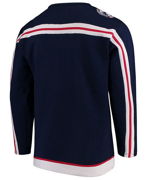 79f2297df5b Majestic Men s Columbus Blue Jackets Breakaway Lace Up Crew Sweatshirt ...