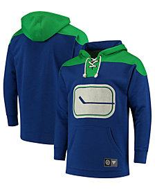 Majestic Men's Vancouver Canucks Breakaway Lace Up Hoodie