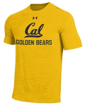 image of Under Armour Men-s California Golden Bears Heat Gear Tri-Blend T-Shirt