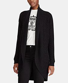 Lauren Ralph Lauren Cable-Knit Cotton Cardigan