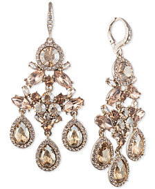 Givenchy Gold-Tone Crystal Chandelier Earrings