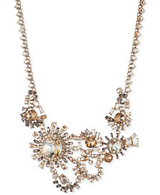 "Givenchy Gold-Tone Crystal Statement Necklace, 16"" + 3"" extender"