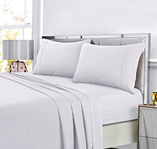 Tribeca Living Super Soft Solid DP Easy-Care Extra Deep Pocket Queen Sheet Set
