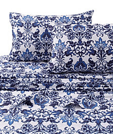 Tribeca Living Catalina Printed 300 Thread Count Extra Deep Pocket Full Sheet Set
