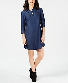 Cotton Chambray Shirtdress, In Regular and Petite, Created for Macy's