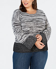 Style & Co Plus Size Boxy Colorblock Pullover, Created for Macy's