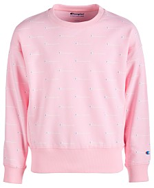 Champion Little Girls Logo-Print Sweatshirt