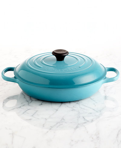 le creuset signature enameled cast iron qt braiser. Black Bedroom Furniture Sets. Home Design Ideas