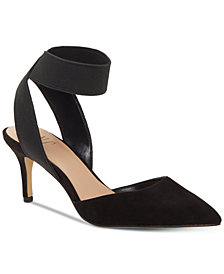 I.N.C. Women's Layloni Stretch Two-Piece Kitten-Heel Pumps, Created for Macy's