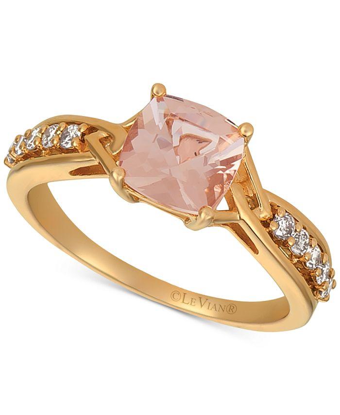 Le Vian - Peach & Nude™ Peach Morganite (1 ct. t.w.) & Nude Diamond (1/5 ct. t.w.) Ring in 14k Rose Gold