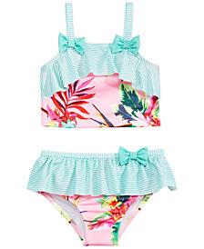 Penelope Mack Little Girls 2-Pc. Floral-Print Swimsuit