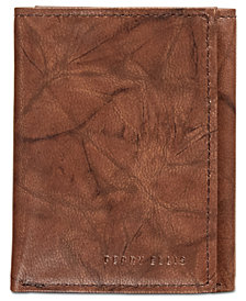 Perry Ellis Men's Crunch Tri-Fold Leather Wallet