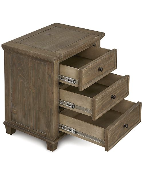 Macy Clearance Furniture: Furniture Closeout! Tristan USB Outlet Nightstand, Created