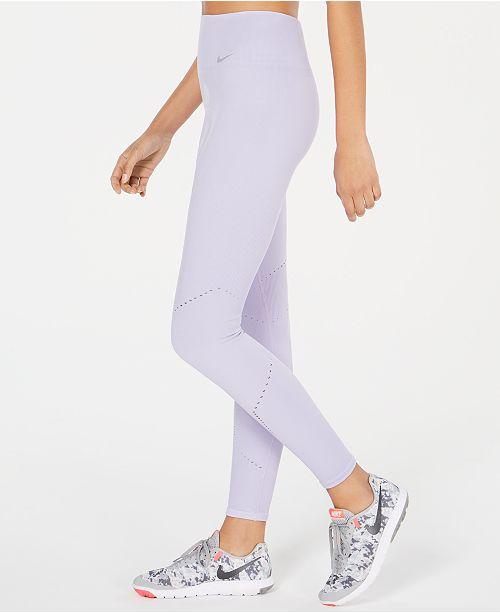 543eb75dcbbab3 Nike Dri-FIT Crochet-Trim High-Rise Seamless Leggings & Reviews ...