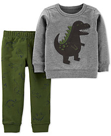 Carter's Toddler Boys 2-Pc. Dinosaur Sweatshirt & Jogger Pants Set