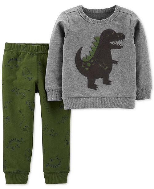 a18ae0b4c Carter s Toddler Boys 2-Pc. Dinosaur Sweatshirt   Jogger Pants Set ...