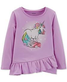 Carter's Toddler Girls Cotton Graphic-Print Peplum T-Shirt