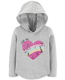 Carter's Toddler Girls Sequin Graphic Hooded Cotton T-Shirt