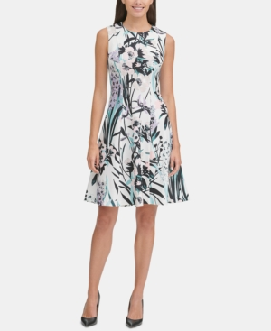 Tommy Hilfiger Dresses PRINTED FIT & FLARE DRESS, CREATED FOR MACY'S