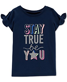 Carter's Little Girls Stay True Graphic Cotton T-Shirt