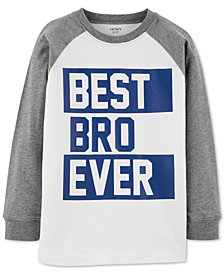 Carter's Little & Big Boys Graphic-Print Raglan T-Shirt