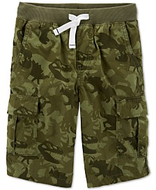 Carter's Little & Big Boys Dinosaur Camo Cotton Cargo Shorts