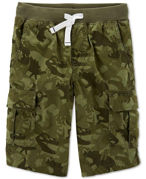 Carter's Little & Big Boys Dinosaur Camo Cotton Cargo Shorts