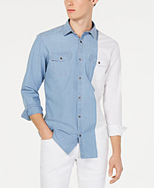 I.N.C. Men's Colorblocked Shirt, Created for Macy's