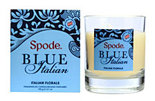 Spode Blue Italian Wax Filled Glass Candle