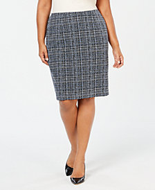 Kasper Plus Size Textured Career Skirt