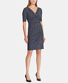 Lauren Ralph Lauren Printed Ruched Dress